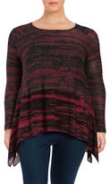 Context Plus Asymmetrical Pullover Knit Sweater