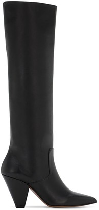 Souliers Martinez 70mm Leather Tall Boots