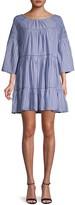 Free People Lola Striped Flounce Mini Dress
