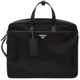 Prada Black Convertible Work Briefcase