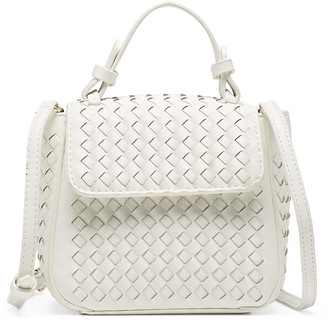 Sole Society Women's Aindrea Satchel Faux Leather In Color: White Bag From