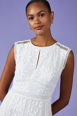 Coast Embroidered Godet Midi Dress