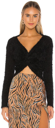 Privacy Please Kayley Twist Front Sweater