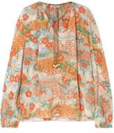 Elizabeth and James Chance Printed Silk Blouse - Marigold