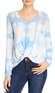 Design History Tie-Dyed Twist-Front Top