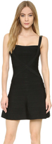 Herve Leger Crisscross A Line Dress