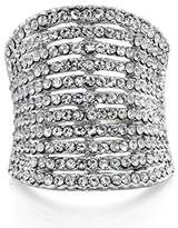 Fiorelli Costume R3287 60, Clear Crystal Statement Ring - Size Large