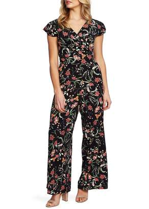 Cynthia Steffe CeCe by Marrakesh Ink Floral Print Jumpsuit