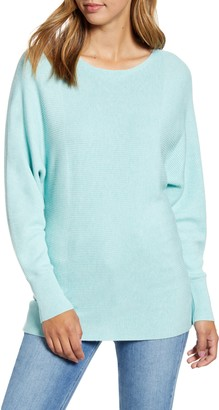 Tommy Bahama Bonita Boatneck Ribbed Cotton Blend Sweater