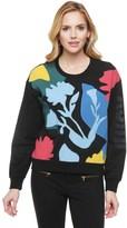 Juicy Couture Matisse Floral Applique Pullover