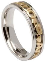 BORU Ladies Mo Anam Cara Irish Wedding Band(10k Gold Text) Size 4.5