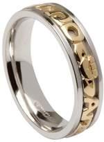 BORU Ladies Mo Anam Cara Irish Wedding Band(10k Gold Text) Size 7.5