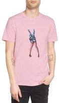 Altru Men's M*a*s*h Peace Sign Graphic T-Shirt