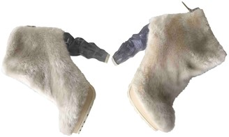 Chanel Beige Faux fur Ankle boots