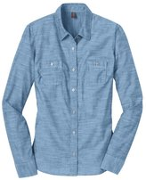 District Made Women's Long Sleeve Washed Woven Shirt M