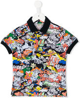 Kenzo Dancing Cactus printed polo shirt