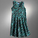 Simply vera vera wang brushstroke pleated dress