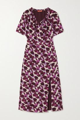 Altuzarra Ruby Tie-detailed Printed Silk Crepe De Chine Midi Dress