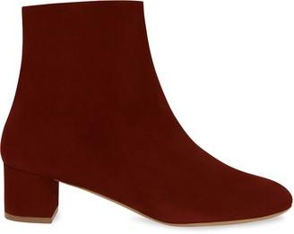 Mansur Gavriel Shearling 40MM Ankle Boot - Burgundy