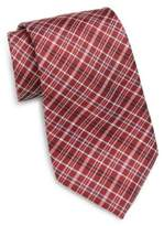Saks Fifth Avenue Plaid Silk Tie