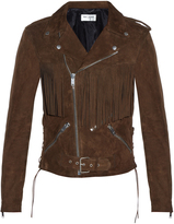 Saint Laurent Fringed leather biker jacket