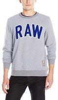 G Star Men's Warth Crew Neck Pullover Sweatshirt