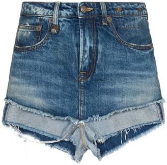 R 13 Layered Denim Shorts