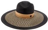 Maison Michel Pina Woven Straw Hat - Womens - Navy