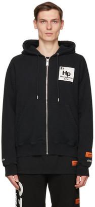 Heron Preston Black Herons Halo Zip-Up Hoodie