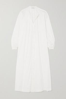 POUR LES FEMMES Mona Cotton-voile Nightdress - White