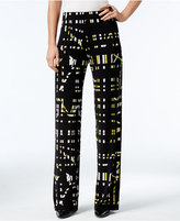 Alfani Printed Soft-Knit Pants, Only at Macy's