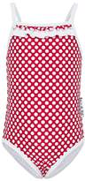 Babes In The Shade Toddler Red Polka One Piece