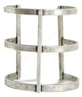 Lady Grey Arc Cuff In Silver