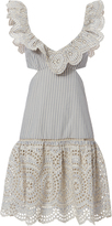 Zimmermann Meridian Striped Frill Dress