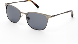 Ted Baker 54mm Metal Square Polarized Sunglasses