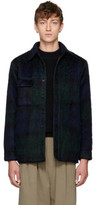 Bless Reversible Navy and Green Mohair Woodhacker Jacket