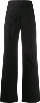 Societe Anonyme High Waist Flared Leg Trousers