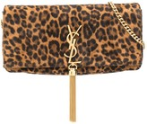 Saint Laurent animal print shoulder bag