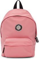 Versus Pink Nylon Lion Backpack