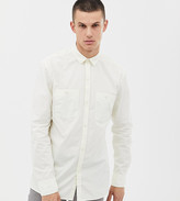 Noak regular fit shirt with double pockets in off white