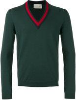 Gucci Sylvie web trimmed jumper - men - Wool - S