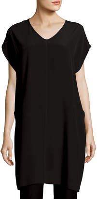 Eileen Fisher Short Sleeve Crinkle Crepe Tunic