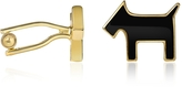 A-Z Collection Scottie Enamel Gold Plated Cuff Links