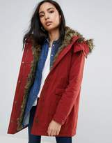 Pepe Jeans Polly Faux Fur Lined Parka Coat