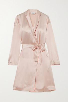 La Perla Silk-satin Robe - Pink
