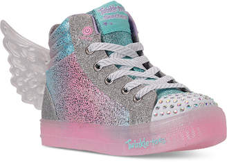 Skechers Little Girls Shuffle Brights Glimmer Wings Light-Up High Top Casual Sneakers from Finish Line