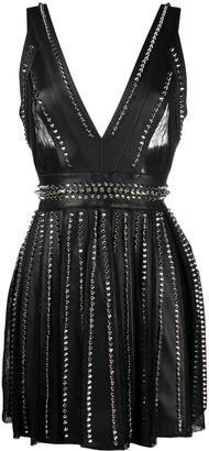 Philipp Plein Studded Short Dress