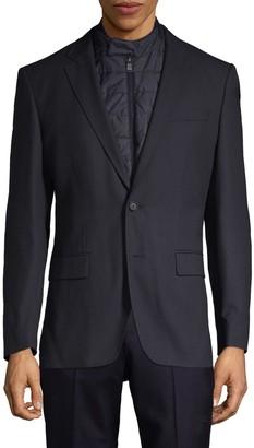 HUGO BOSS Travel Hadwart Regular-Fit 2-in-1 Virgin Wool-Blend Jacket