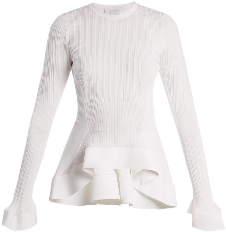 Esteban Cortazar Fluted-panel ribbed-knit sweater