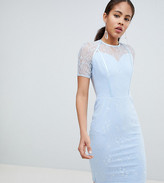 John Zack Tall Pencil Lace Midi Dress